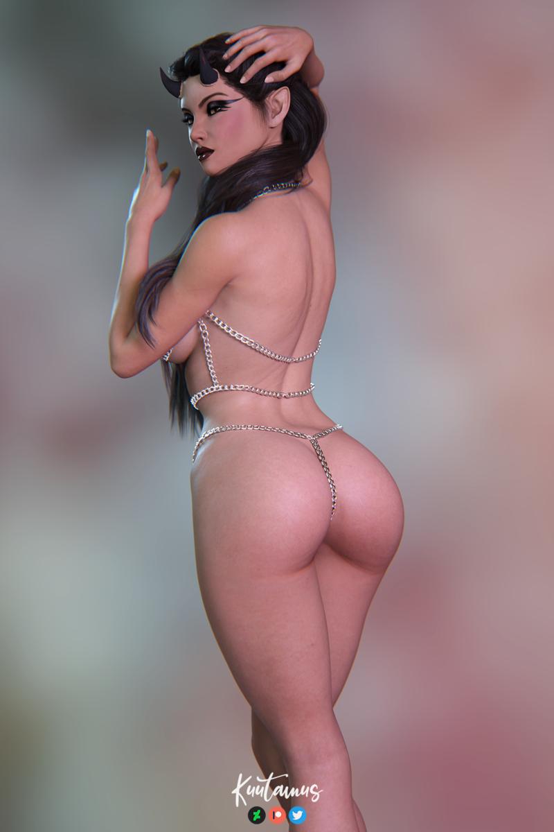 Jezebeth in chain bikini