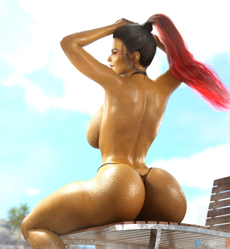 Loba wet booty pinup