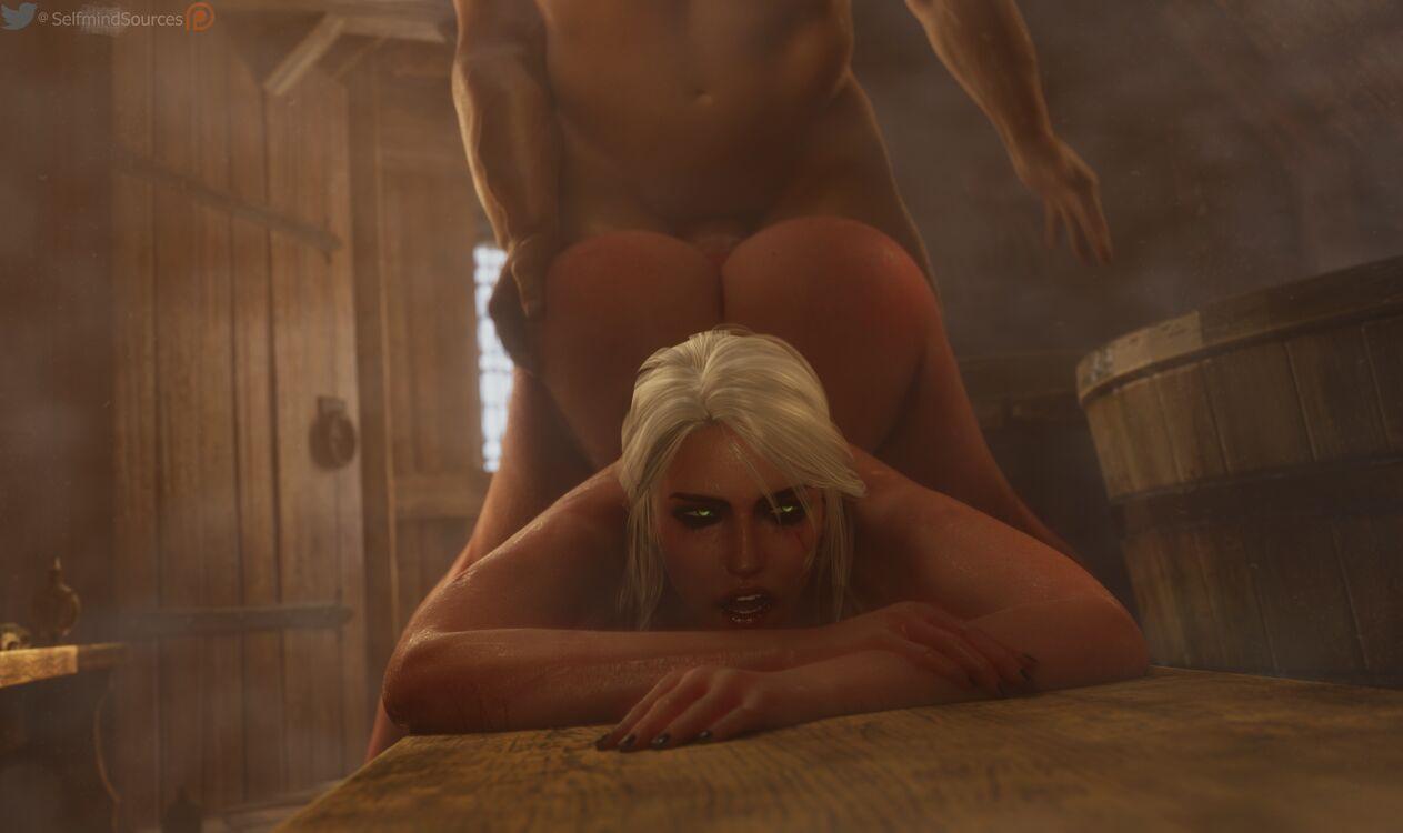 Ciri anal sex in the mixed bathhouse