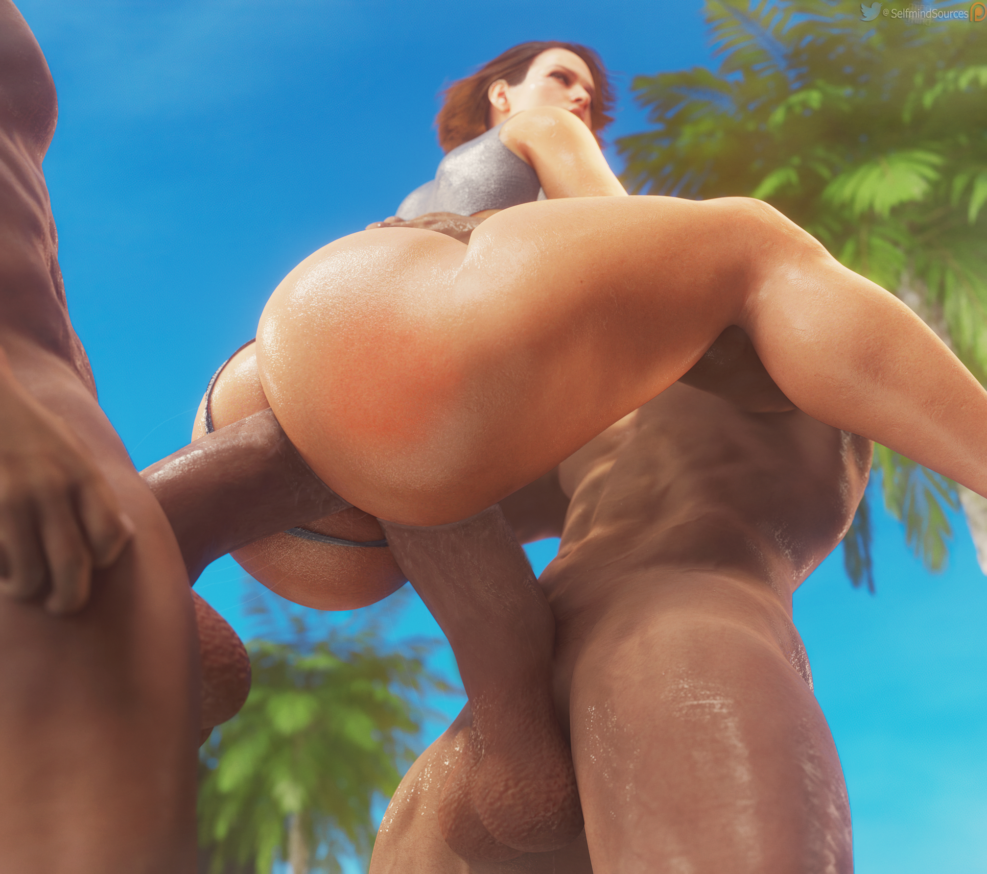 Jill carried & pumped in both holes~