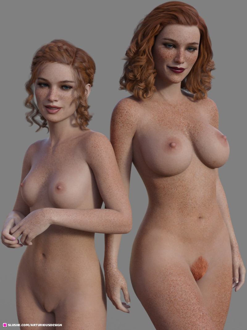 Ginger Mom and Daughter