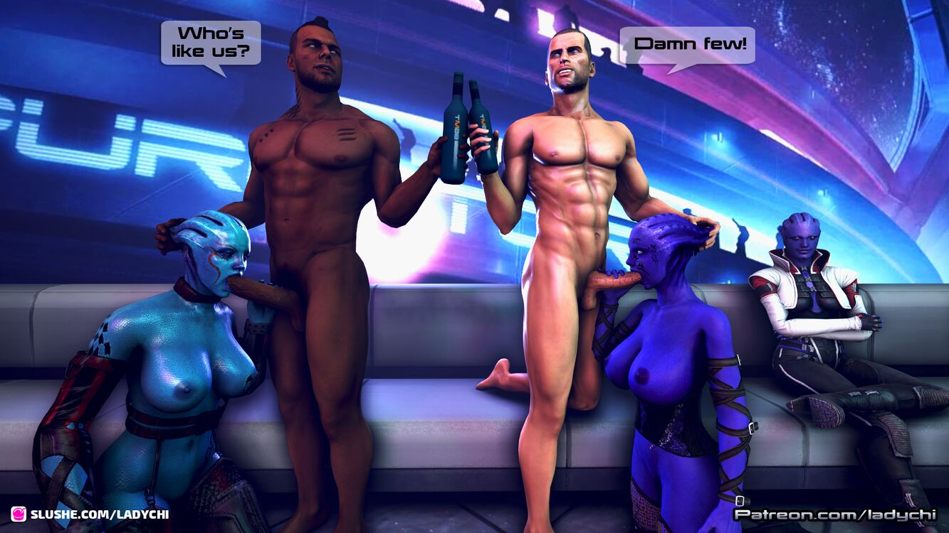 John and James getting some asari whores in afterlife!