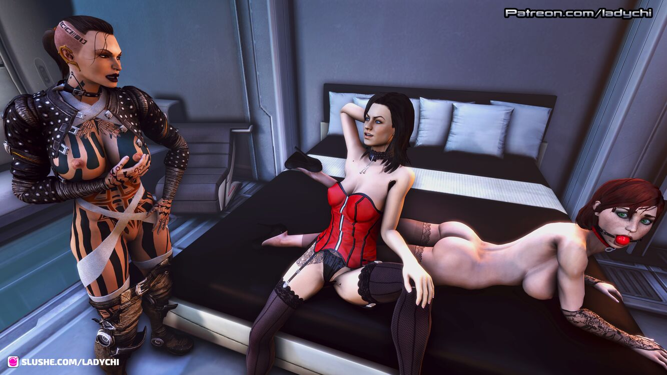 Jack and Miranda  prepare Shepard for a night of fun!