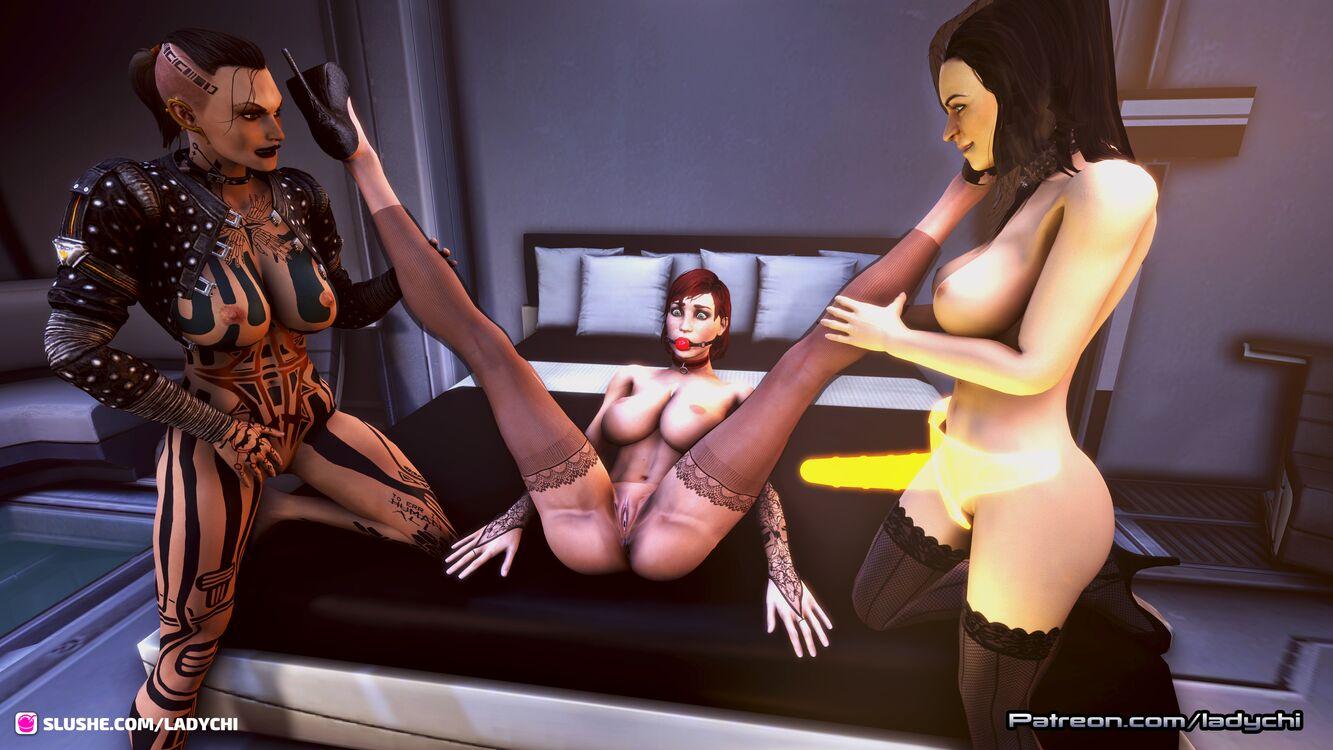 Jack and Miranda  prepare Shepard for a night of fun part 2!