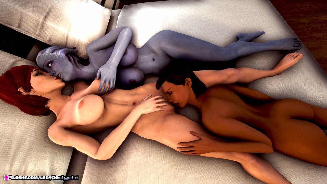 More of the Shepard, Liara , Samantha erotic romance!