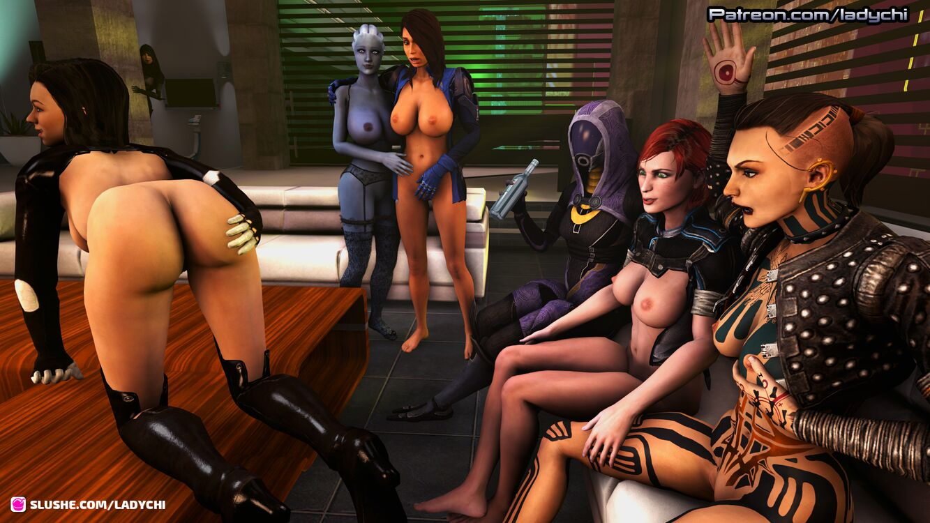 Miranda Lawson poses for the other Normandy girls part 2 .
