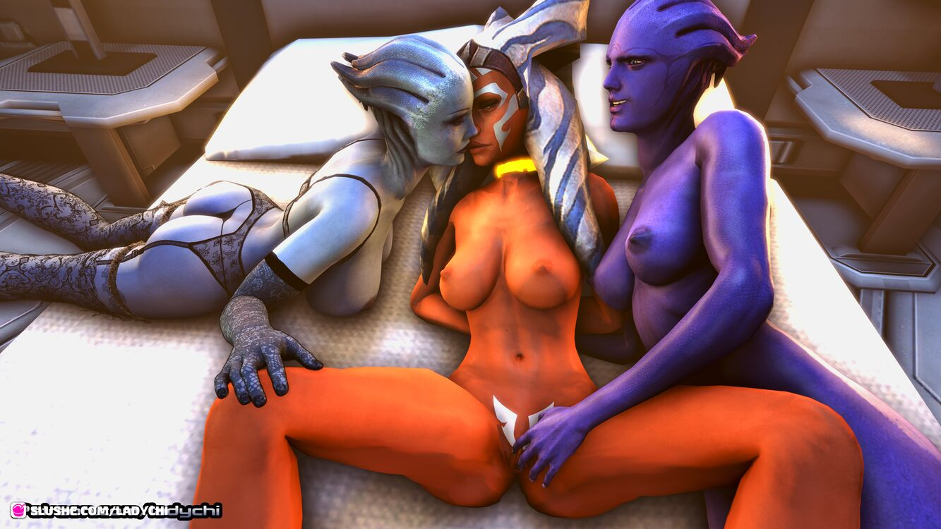 Ahsoka from Starwars is captured by a gang of asari! Part 3