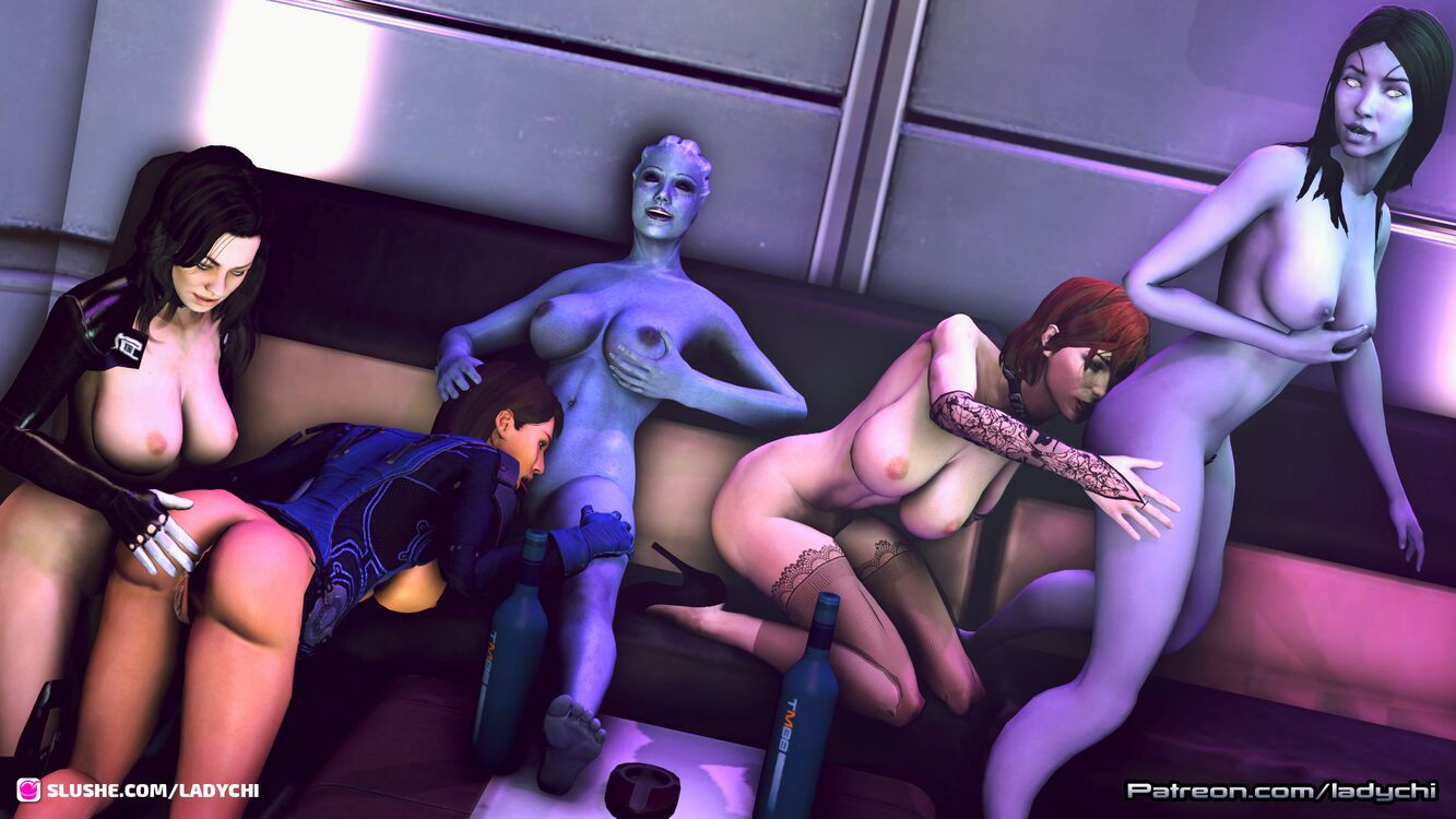 Next in the Fun in the Commander's quarters Series. The girls all go at it!