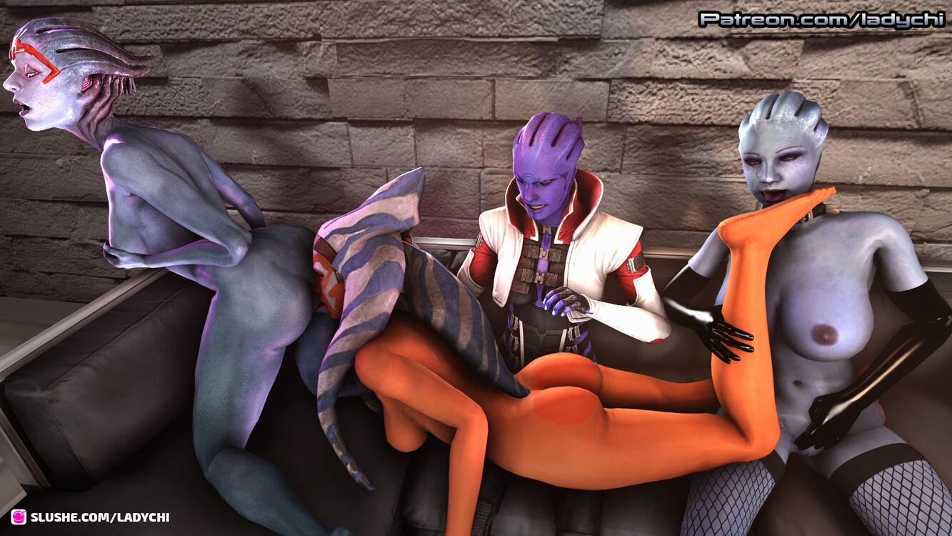 Ahsoka from Starwars is captured by a gang of asari! Part 10