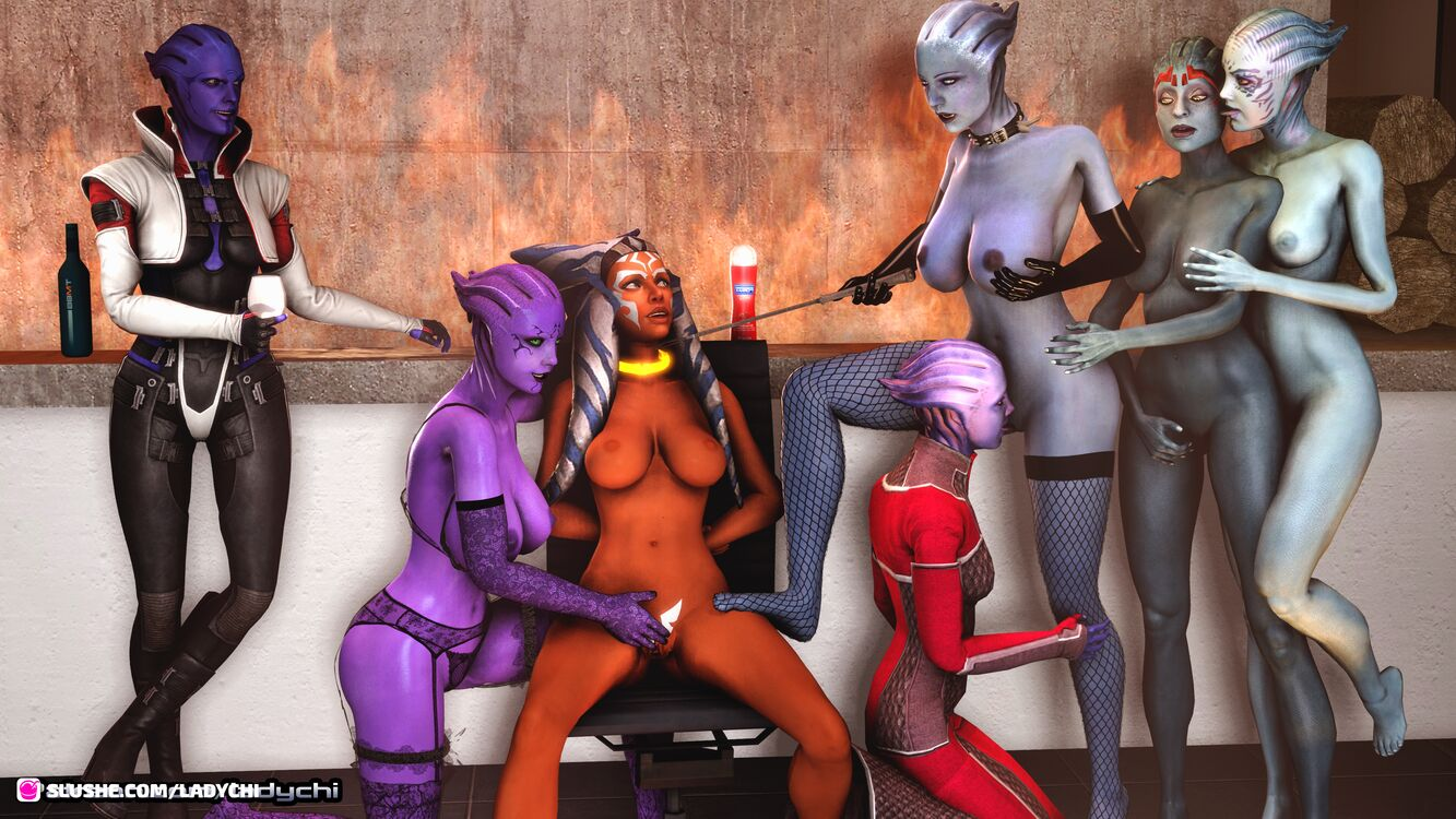 Ahsoka from Starwars is captured by a gang of asari! Part 11