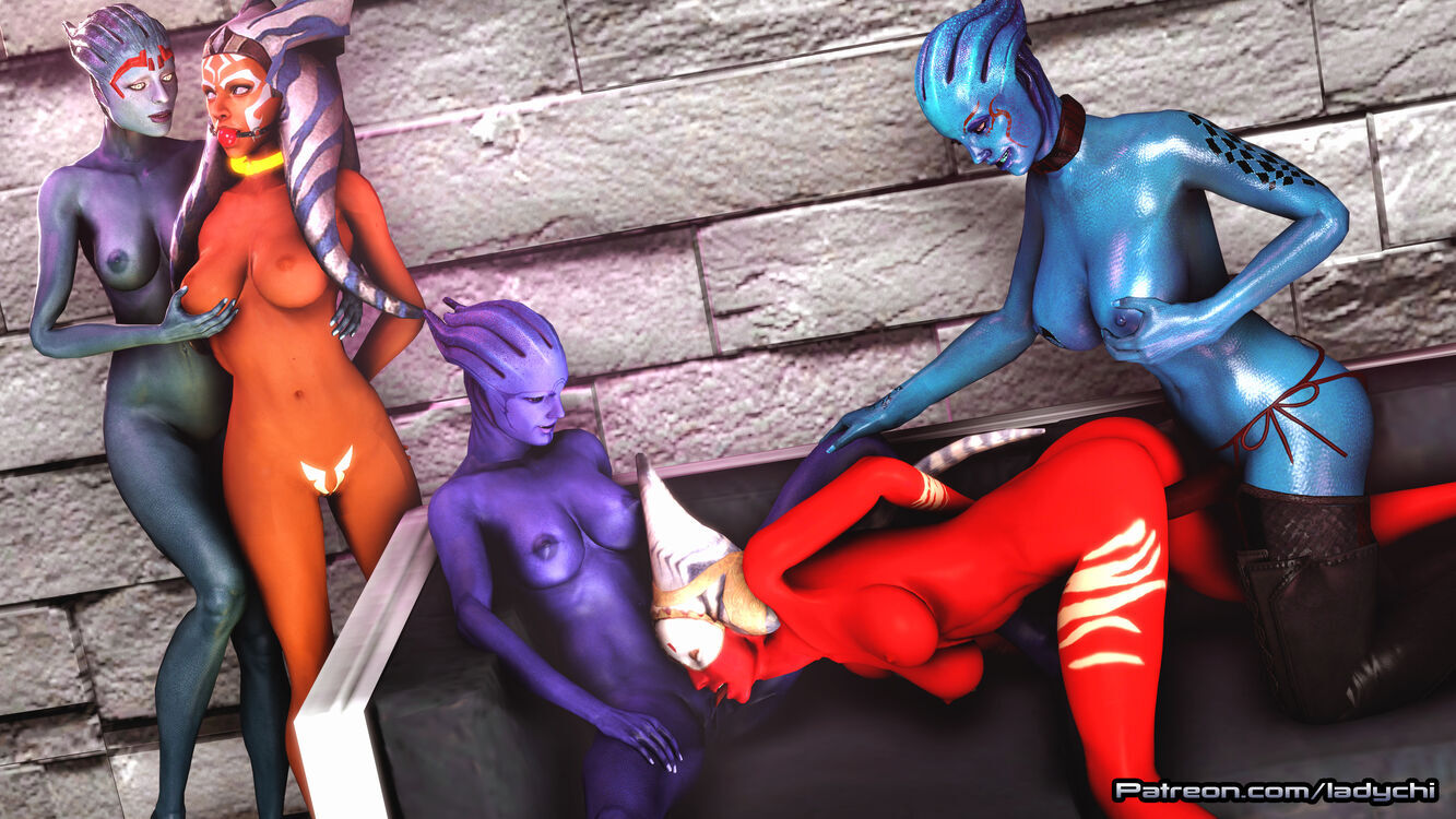 Ahsoka from Starwars is captured by a gang of Asari! Part 13.