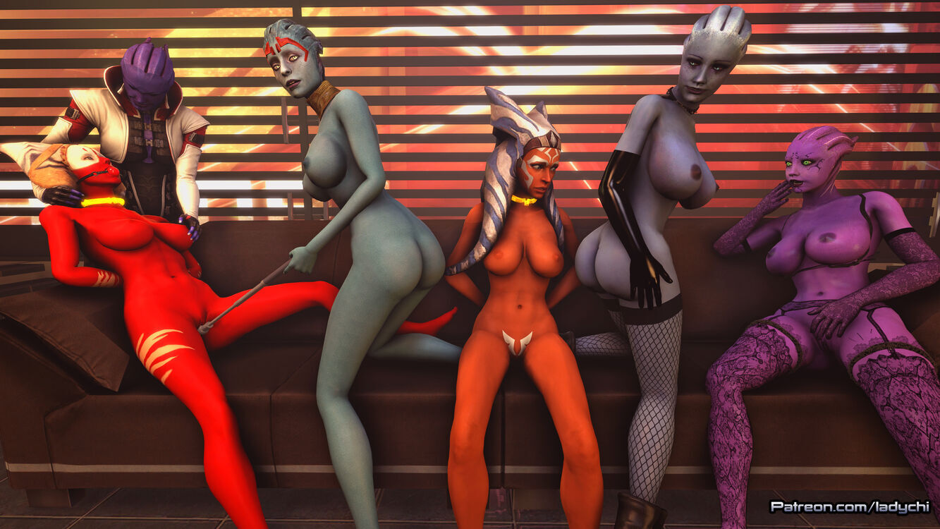 Ahsoka from Starwars is captured by a gang of Asari! Part 14.