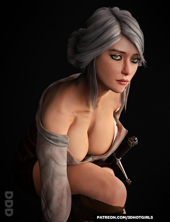 Ciri Showing Off Her Cleavage