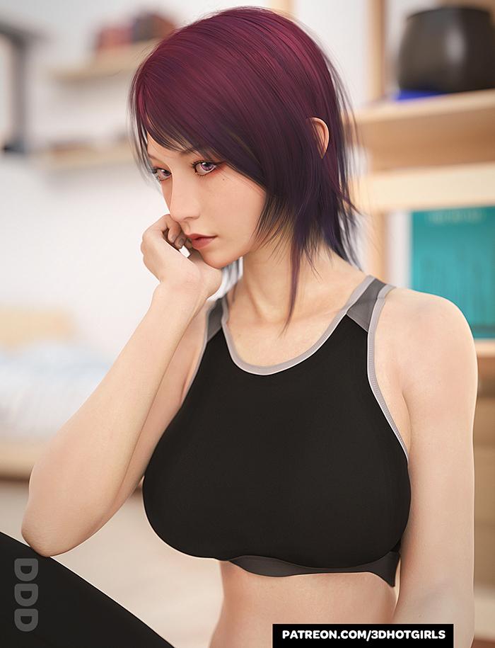 A Little More Moon - Asian Korean Girl
