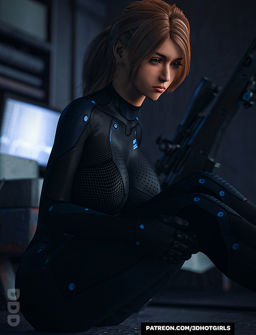 Sniper Sarah Looking A Little Sad