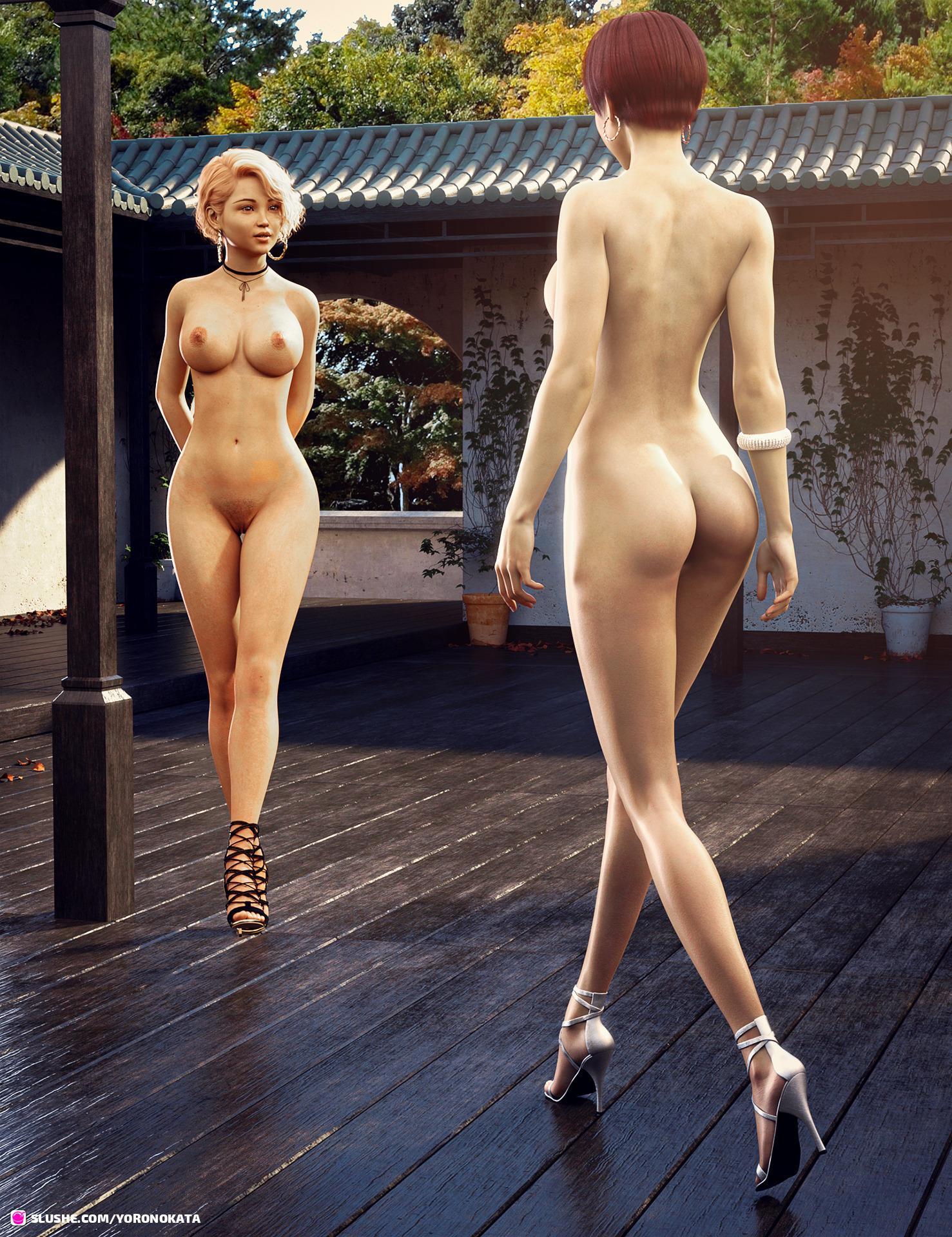 Maya meets Akiko #1 (nude)