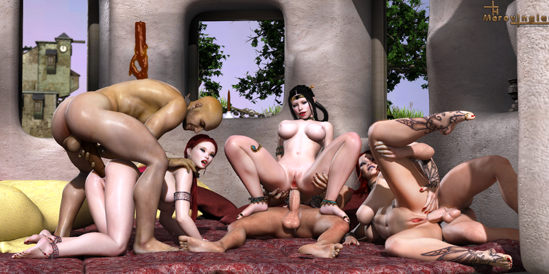 Fantasia's orgy - all anal action