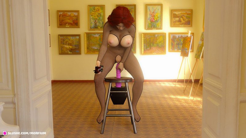 Samantha testing Godless8 Fuck stool