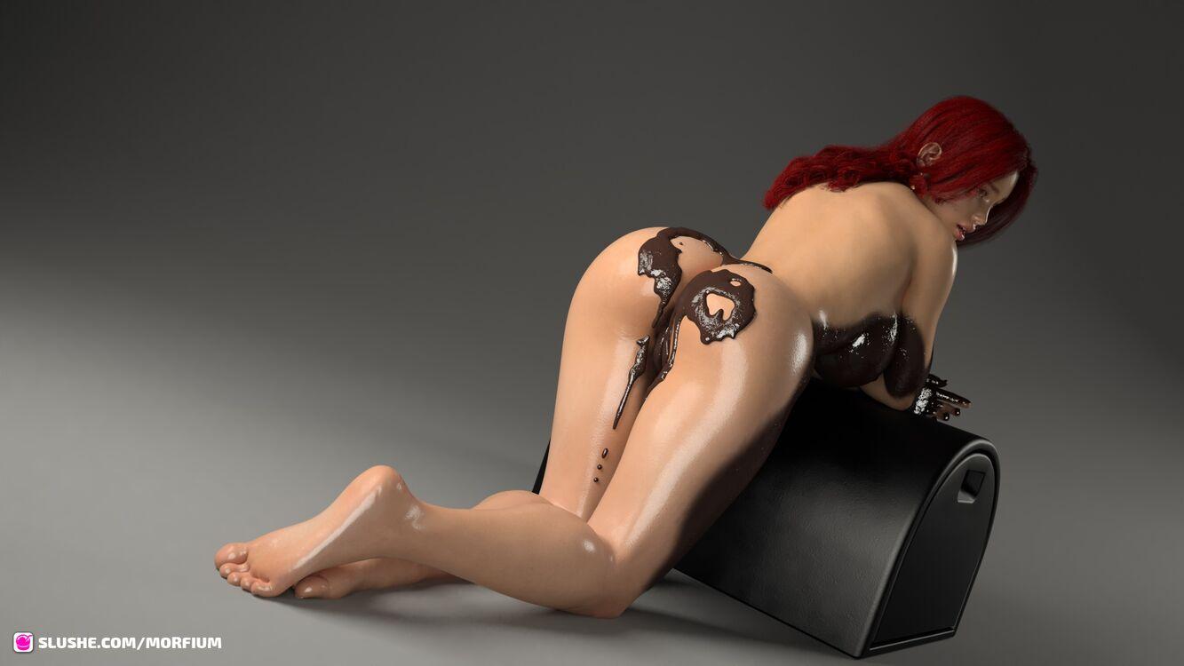 Samantha - Chocolate Bath Backside
