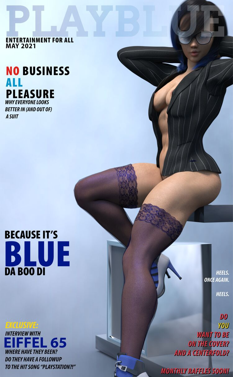 PlayBlue Covers and Centerfolds!