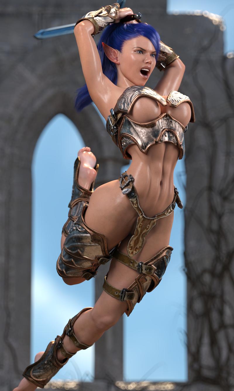 Taryn - Warrior Elf