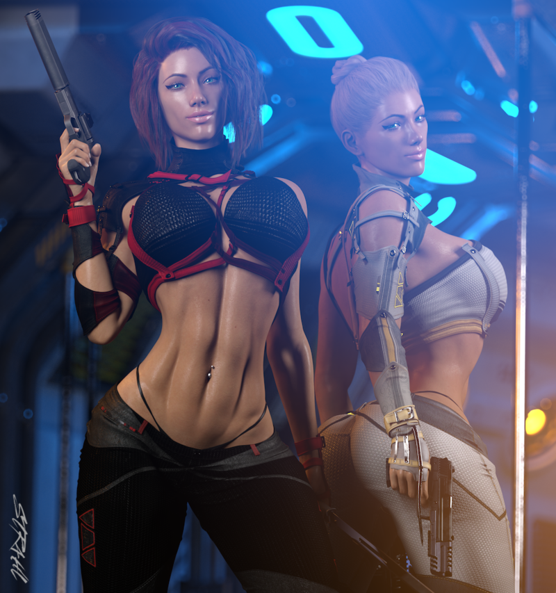 Cyberpunk Sisters