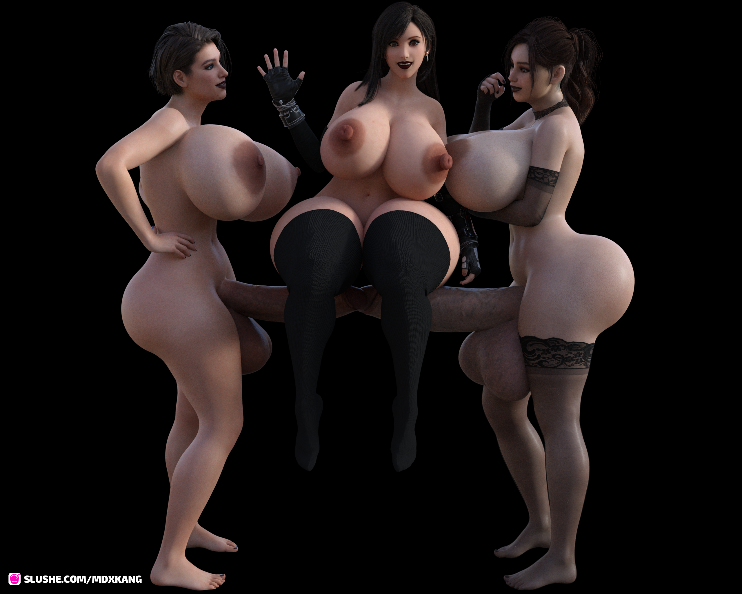 Jill,Claire and Tifa