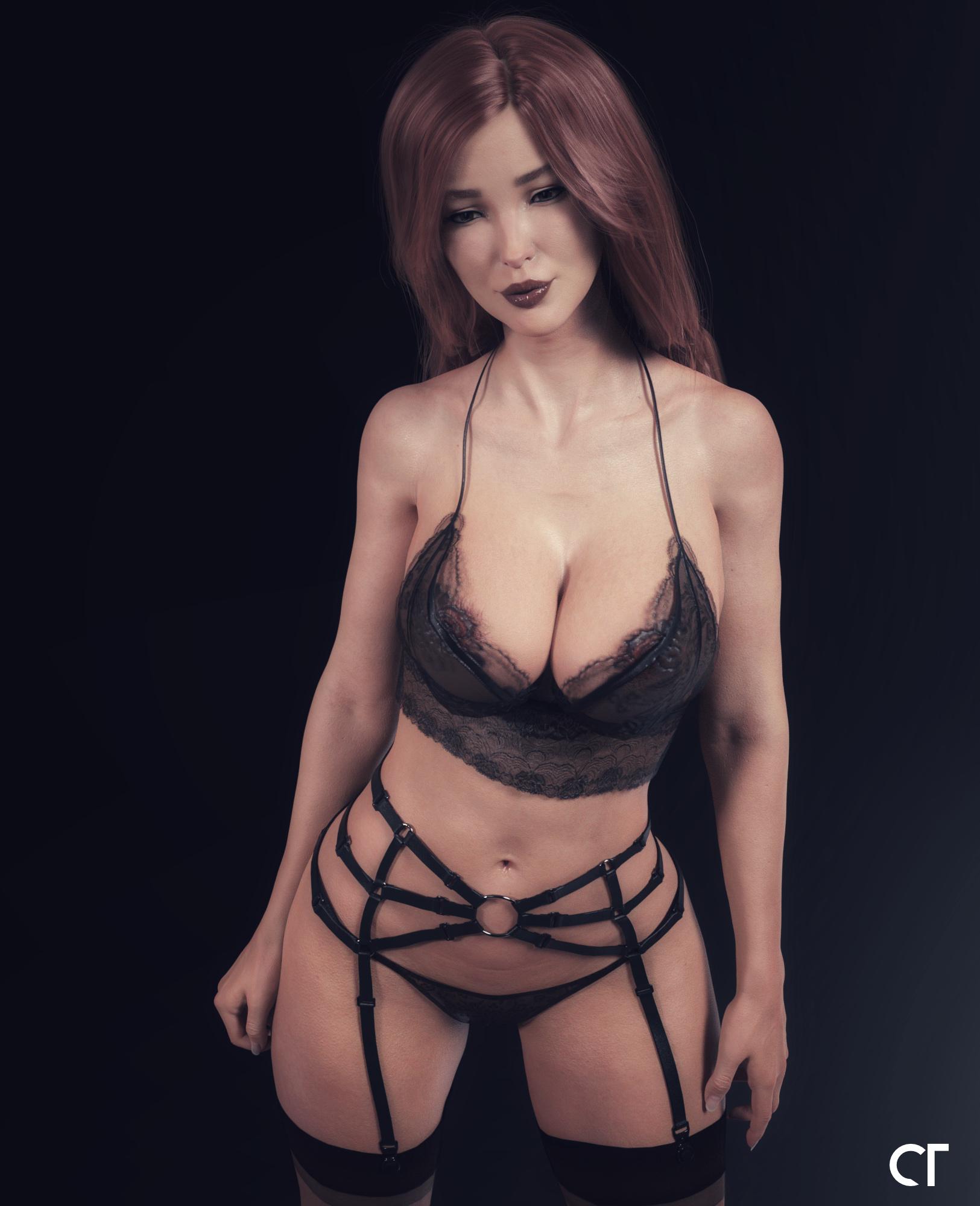 AVA in her lingerie