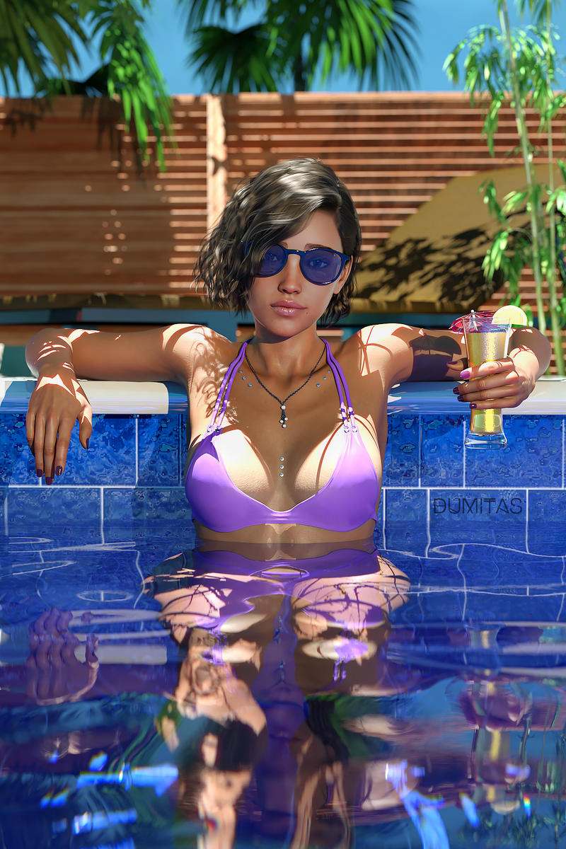 Sofia in the Pool