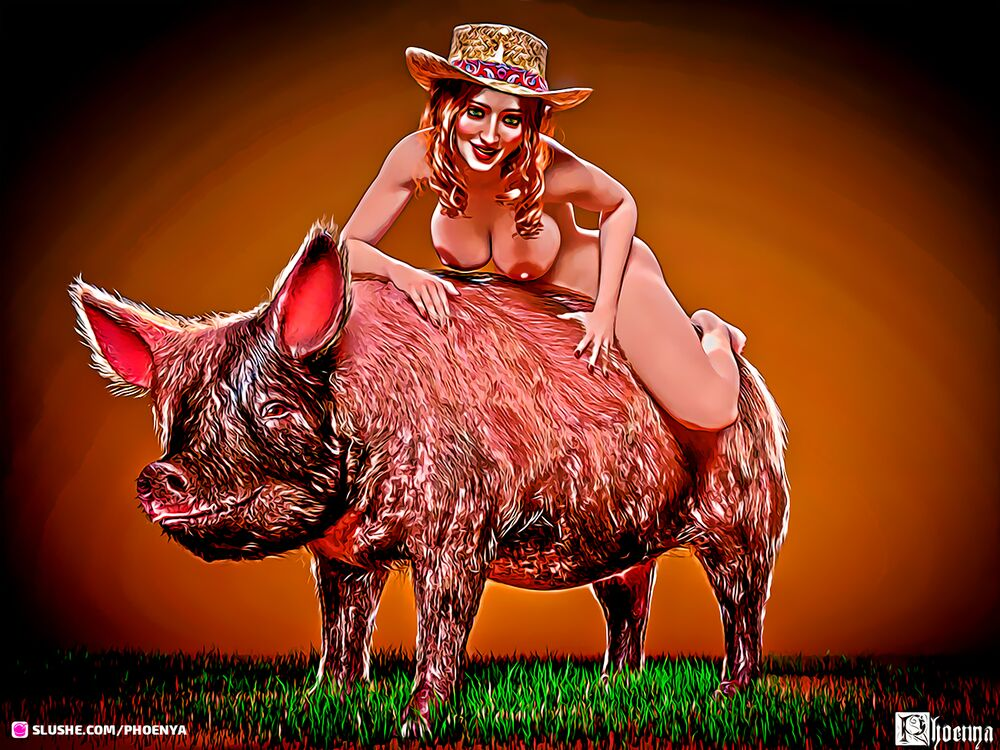 Pig rider toon.