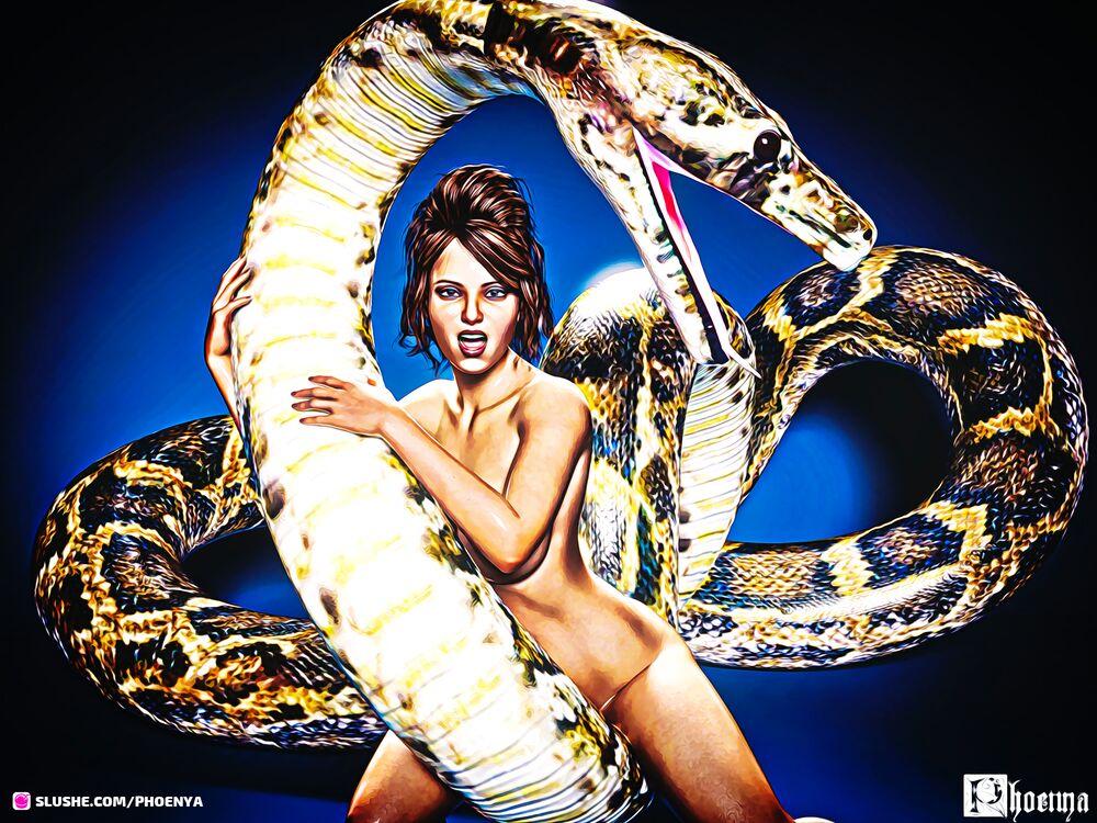 Nicole and snake.