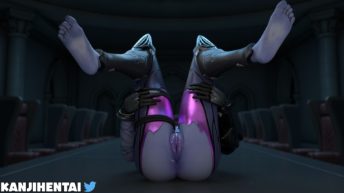 3D Wet Pussy Widowmaker on the table (Overwatch)