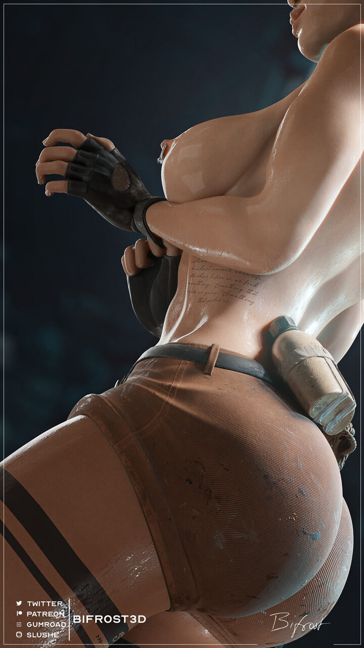 Let's Get Those Hands Dirty! - Lara Croft Pin-Up