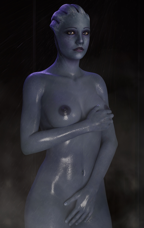 Liara in the shower