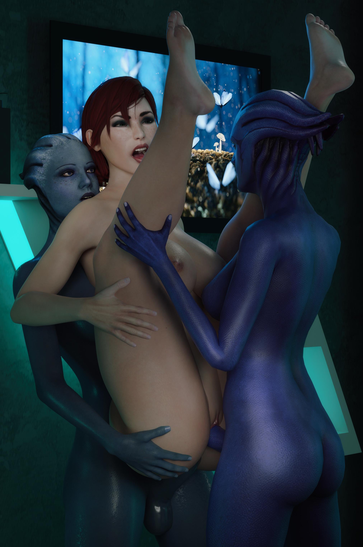 Femshep loves asari cock