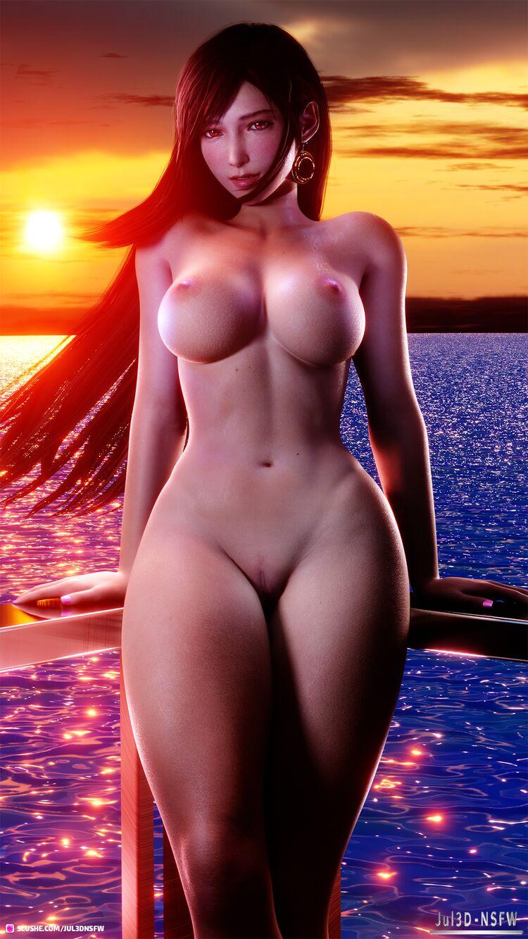 Tifa sexy at sunset