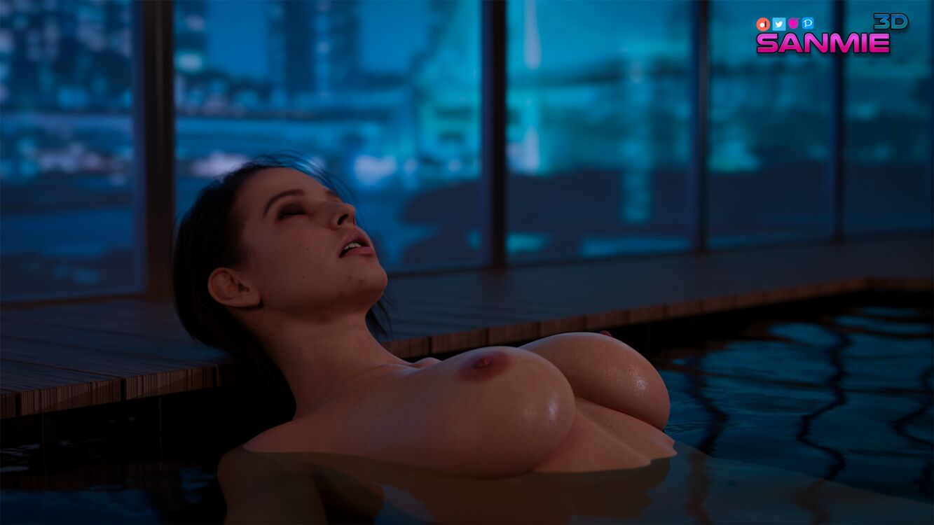 Jill in the pool