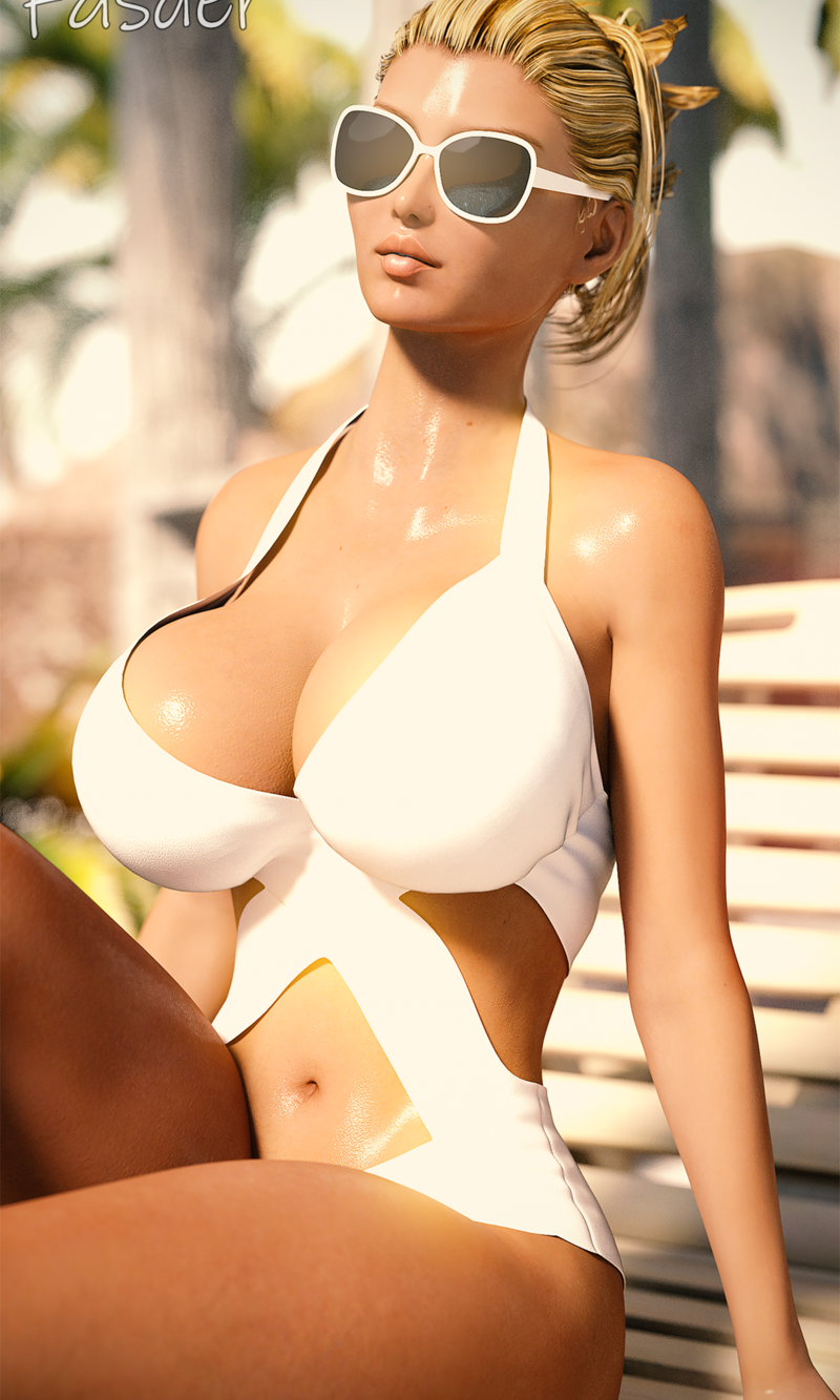 Diane on the beach