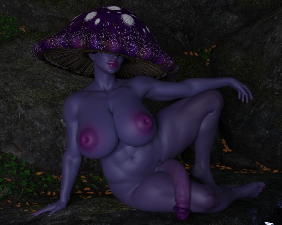 Mushroom lady - an original character I made for my game.