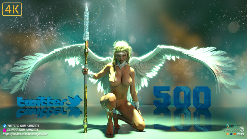 JMC3DX DAZ3D CREATIONS: 500 twitter followers