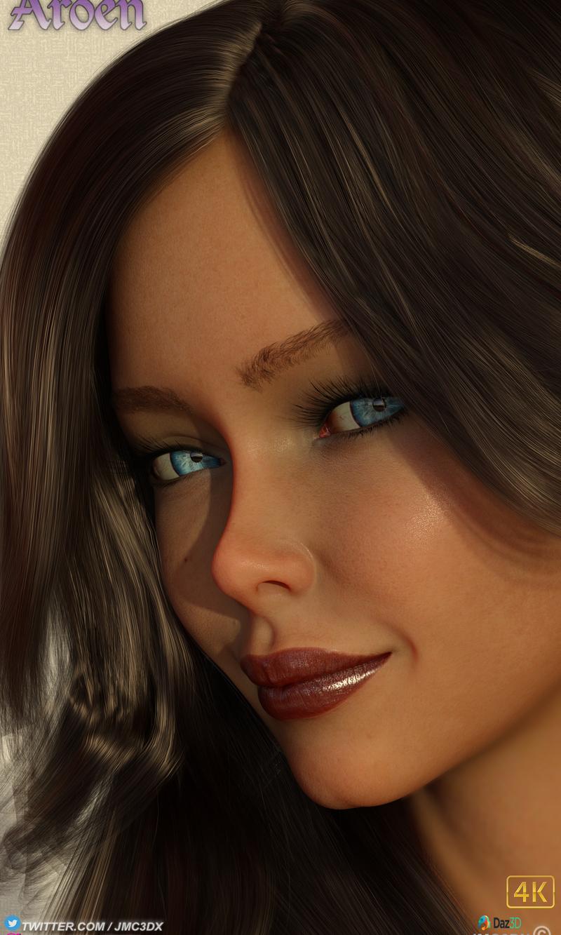 "JMC3DX Daz3D Creations: Aroen from 3DXChat ""up close & personel"""