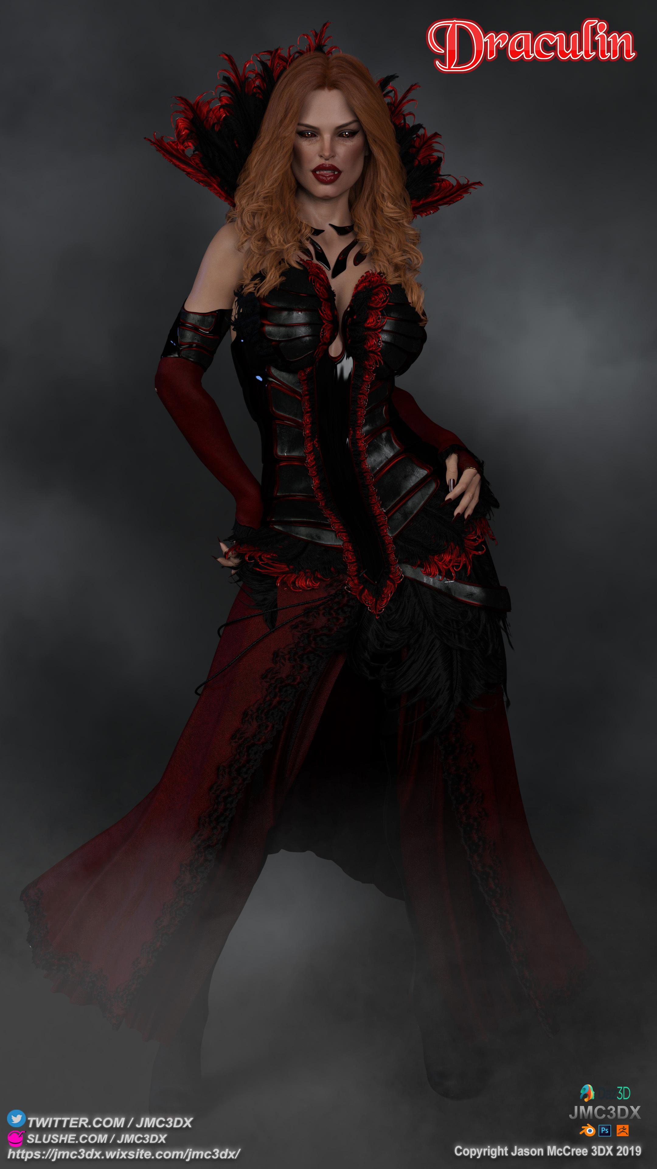Draculin: The First Futa Vampire OC by JMC3DX