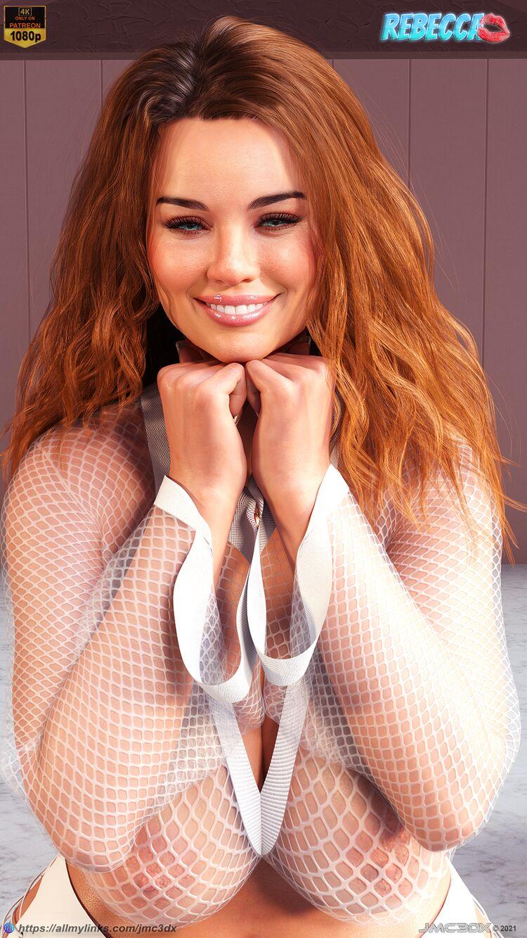 JMC3DX: Rebecca Kiss - A Plus-sized model Pics (commission)