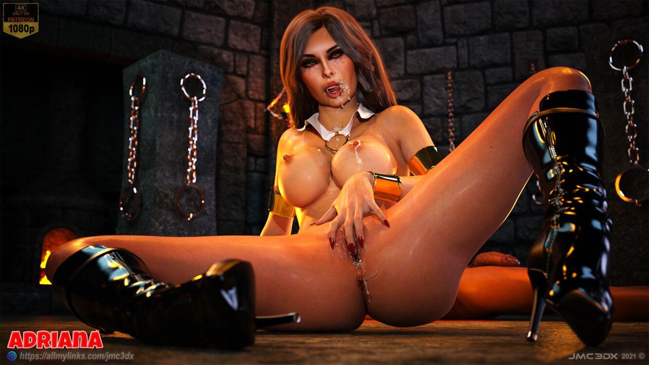 JMC3DX: ADRIANA vamp facialized & Creampie (Vampirella Cosplay)