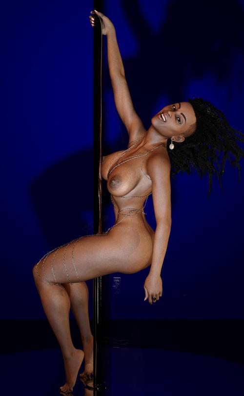 Jasmine Working The Pole