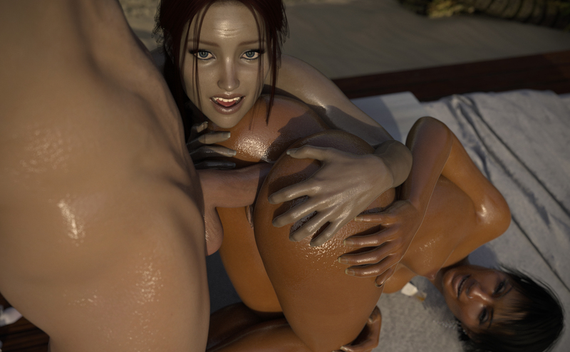 Indi & Sheyla: Anal Cabana