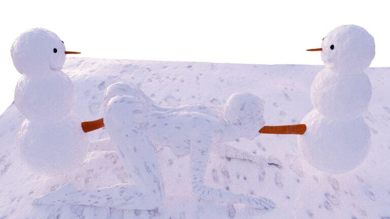 Dirty snowman freebie on my render