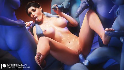 Mass Effect - Ashley Gangbang