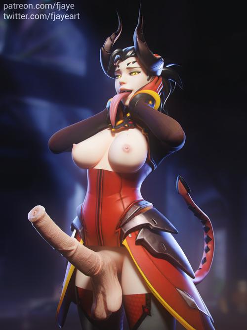 Overwatch - Mercy horsecock