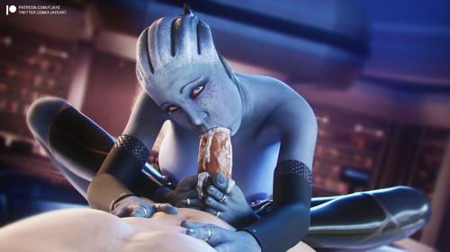 Mass Effect - Liara Footjob